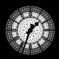 Big Ben silhouette Royalty Free Stock Photos