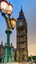 Big ben street light on westminster bridge with behind Royalty Free Stock Photography