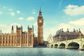 Big Ben in sunny day Royalty Free Stock Photo