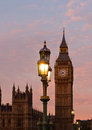 Big ben sunset in london uk Stock Photography