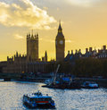 Big ben at sunset a picture of across the thames Stock Image
