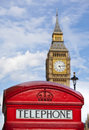 Big Ben and telephone box Royalty Free Stock Photography