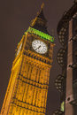Big ben tower at night london uk Stock Photo