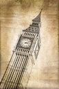 Big Ben With Vintage Sepia Tex...