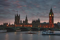 Big ben and westminister the house of parliament london uk Royalty Free Stock Photo