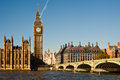 Big ben and westminster bridge in london houses of parliament uk Stock Photo