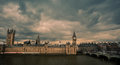 Big ben and westminster bridge london landmark on a stormy day england uk Stock Photos
