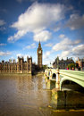 Big ben and westminster bridge view of Stock Image