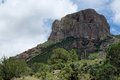 Big bend butte rugged chihuahuan desert in national park Royalty Free Stock Photography