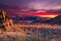 Big Bend Sunset Royalty Free Stock Photo