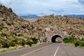 Big bend tunnel automotive in the national park Stock Photo