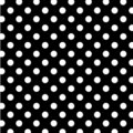 Big black dots polka seamless white Arkivfoto