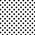 Big black dots polka seamless white Arkivfoton