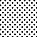 Big Black Polka Dots on White, Seamless Stock Photos