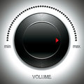 Big black volume knob. Royalty Free Stock Photo