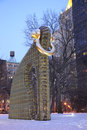 Big Bling public sculpture by American artist Martin Puryear in Madison Square Park
