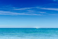 Blue Ocean Water Sky Speedboat Horizon Royalty Free Stock Photo