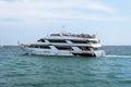 Big boat swimming on a Michigan Lake Royalty Free Stock Photo