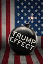 Big bomb with Trump Effect word Royalty Free Stock Photo