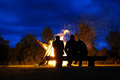Big bonfire Royalty Free Stock Photo