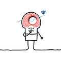 Big brain man & memory desorders Royalty Free Stock Photo