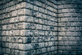 Big brick wall grunge corner background