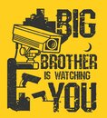 Big Brother is Watching You Royalty Free Stock Photo