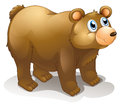 A big brown bear illustration of on white background Royalty Free Stock Photos