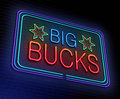 Big bucks concept. Royalty Free Stock Photo