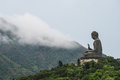 Big buddha among the cloud Royalty Free Stock Photos