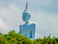 Big buddha at don sak district wat khao suwan pradit the m high and the buddhist temple located on a hill about kilometer Stock Image