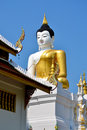 The Big Buddha Image and blue sky Royalty Free Stock Photo