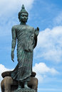 Big buddha image with blue sky at phutthamonthon thailand Stock Image