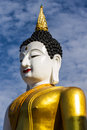 Big buddha image at golden triangle in wat raja mon thian chiangmai thailand Stock Images
