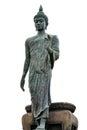 Big buddha image isolate on white background amphoe phutthamonthon thailand Royalty Free Stock Photos