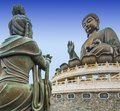 Big buddha of lantau island in hong kong china Royalty Free Stock Photography