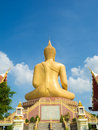 Big buddha statue with blue sky background Royalty Free Stock Photo