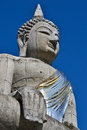 The Big Buddha Statue And Blue Sky Of Thailand Stock Image