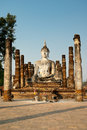 Big buddha statue in sukhothai historical park thailand Royalty Free Stock Images