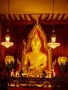 Big buddha in thai Royalty Free Stock Image