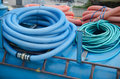 Big bunch of hoses and tube coils the Stock Photography