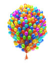 Big bunch of party balloons Royalty Free Stock Photography