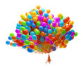 Big bunch of party balloons Stock Image