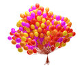 Big bunch of party balloons Stock Images