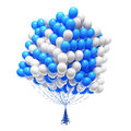Big bunch of party balloons. Cube shaped. Stock Images