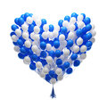 Big bunch of party balloons.Heart shape Stock Photo