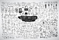 Big bundle business casual doodles icons and objects. Royalty Free Stock Photo