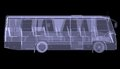 Big bus x ray isolated d render on black background Stock Photography