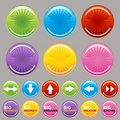 Big Button Set Royalty Free Stock Photography