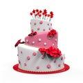 Big Cake Isolated Royalty Free Stock Photo